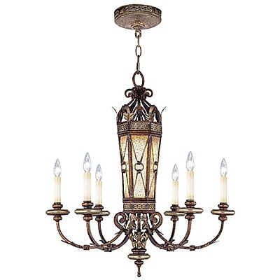 Livex Lighting 6-Light Palacial Bronze with Gilded Accents Chandelier (8826-64)