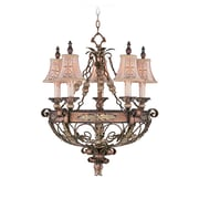 Livex Lighting 5-Light Palatial Bronze Chandelier with Gilded Accents (8845-64)