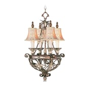 Livex Lighting 4-Light Palatial Bronze Chandelier with Gilded Accents (8844-64)