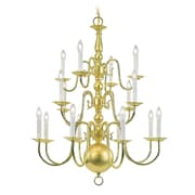 Livex Lighting 8-Light Polished Brass Chandelier (5016-02)