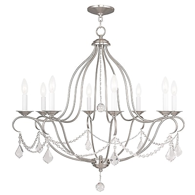 Livex Lighting 8-Light Brushed Nickel Chandelier (6428-91)