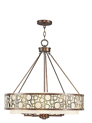 Livex Lighting 8-Light Palatial Bronze Chandelier with Gilded Accents (8678-64)