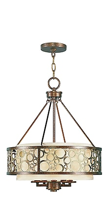 Livex Lighting 5-Light Palatial Bronze Chandelier with Gilded Accents (8675-64)