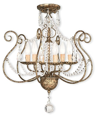 Livex Lighting 6-Light European Bronze Chandelier (51916-36)
