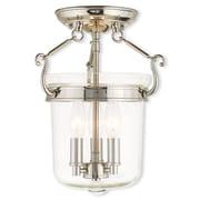 Livex Lighting 3-Light Polished Nickel Flush Mount (50481-35)