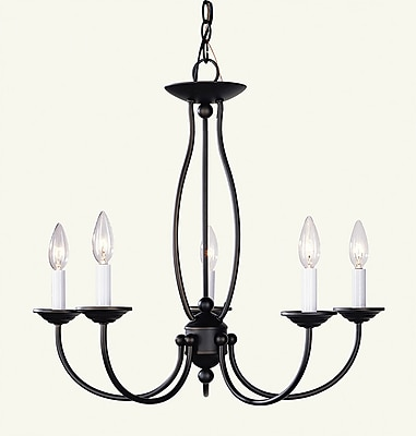 Livex Lighting 5-Light Bronze Chandelier (4155-07)