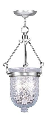 Livex Lighting 3-Light Brushed Nickel Pendant (5073-91)