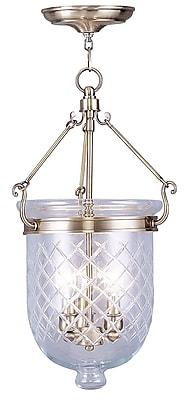 Livex Lighting 3-Light Antique Brass Pendant (5073-01)