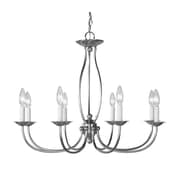 Livex Lighting 8-Light Brushed Nickel Chandelier (4158-91)