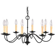 Livex Lighting 8-Light Black Chandelier (4468-04)