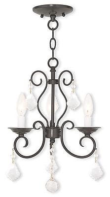 Livex Lighting 3-Light English Bronze Mini Chandelier (50763-92)