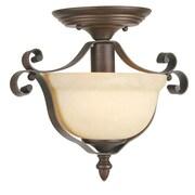Livex Lighting 1-Light Imperial Bronze Semi-Flush Mount Light (6148-58)