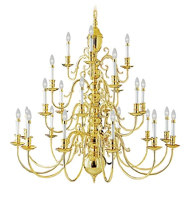 Livex Lighting 21-Light Polished Brass Chandelier (5344-02)