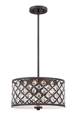 Filament Design 3-Light Oil Rubbed Bronze Pendant (STL-SVS474943)