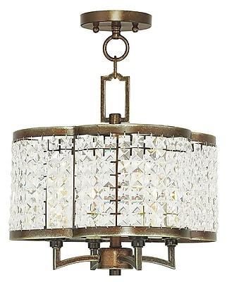 Livex Lighting 4-Light Palacial Bronze Mini Chandelier (50574-64)
