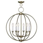 Livex Lighting 6-Light Antique Brass Chandelier (4666-01)