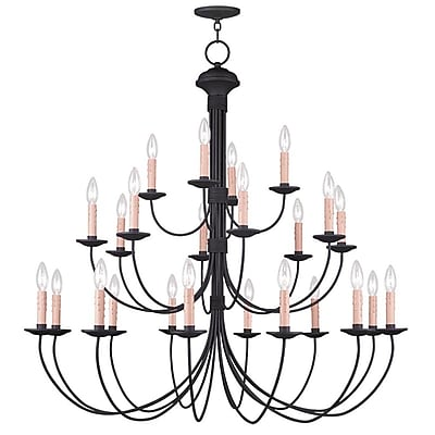 Livex Lighting 24-Light Black Chandelier (4537-04)