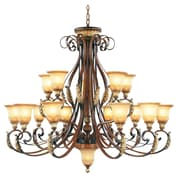 Livex Lighting 15-Light Verona Bronze with Aged Gold Leaf Accents Chandelier (8568-63)