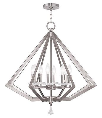 Livex Lighting 8-Light Brushed Nickel Chandelier (50668-91)