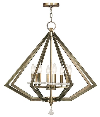 Livex Lighting 8-Light Antique Brass Chandelier (50668-01)