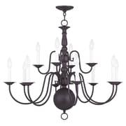 Livex Lighting 12-Light Bronze Chandelier (5014-07)