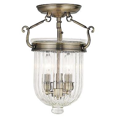 Livex Lighting 3-Light Antique Brass Flush Mount (50514-01)