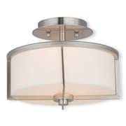 Livex Lighting 2-Light Brushed Nickel Flush Mount (51072-91)