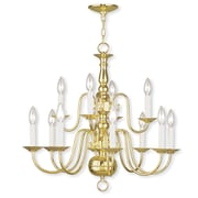 Livex Lighting 8-Light Polished Brass Chandelier (5012-02)