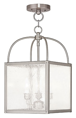 Livex Lighting 3-Light Brushed Nickel Pendant (4055-91)