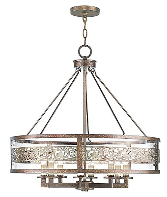 Livex Lighting 8-Light Palacial Bronze with Gilded Accents Chandelier (6259-64)
