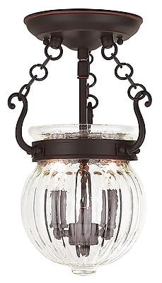 Livex Lighting 2-Light Olde Bronze Flush Mount (50502-67)