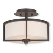 Livex Lighting 2-Light Bronze Flush Mount (51072-07)