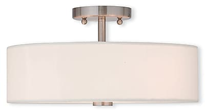 Livex Lighting 3-Light Brushed Nickel Flush Mount (51054-91)