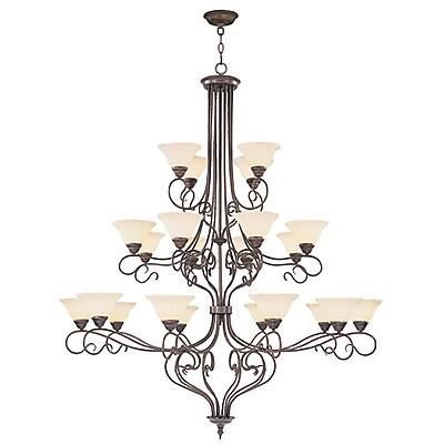 Livex Lighting 21-Light Imperial Bronze Chandelier (6189-58)