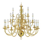 Livex Lighting 21-Light Polished Brass Chandelier (5321-02)