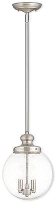 Livex Lighting 2-Light Brushed Nickel Pendant (50914-91)