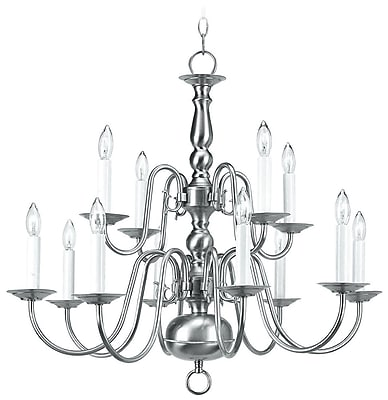 Livex Lighting 12-Light Brushed Nickel Chandelier (5012-91)