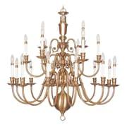 Livex Lighting 21-Light Flemish Brass Chandelier (5321-22)