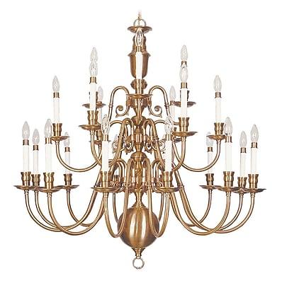 Livex Lighting 21-Light Flemish Brass Chandelier (5321-22)