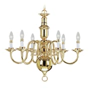 Livex Lighting 6-Light Polished Brass Chandelier (5306-02)