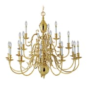 Livex Lighting 21-Light Polished Brass Chandelier (5342-02)