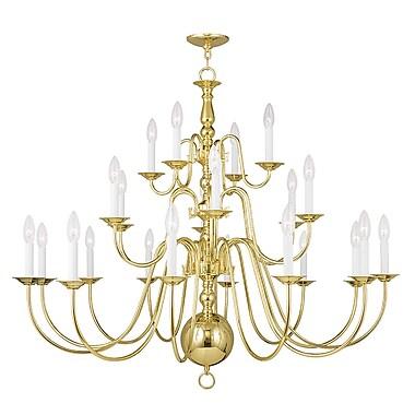 Livex Lighting 22-Light Polished Brass Chandelier (5015-02)