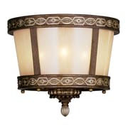 Livex Lighting 3-Light Palacial Bronze with Gilded Accents Flush Mount (8860-64)