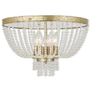 Livex Lighting 5-Light Winter Gold Flush Mount (51866-28)