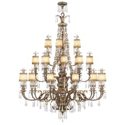 Livex Lighting 22-Light Vintage Gold Leaf Chandelier (8910-65)
