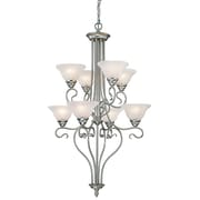 Livex Lighting 8-Light Brushed Nickel Chandelier (6118-91)