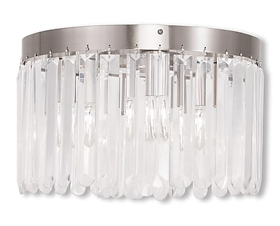 Livex Lighting 4-Light Brushed Nickel Flush Mount (50553-91)
