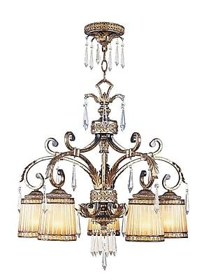 Livex Lighting 5-Light Vintage Gold Leaf Chandelier (8885-65)