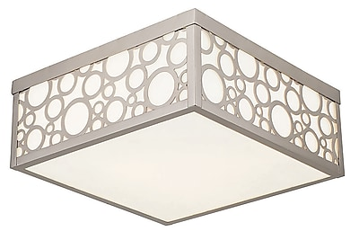Livex Lighting 3-Light Brushed Nickel Flush Mount (86793-91)