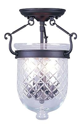 Livex Lighting 3-Light Bronze Semi-Flush Mount (5071-07)